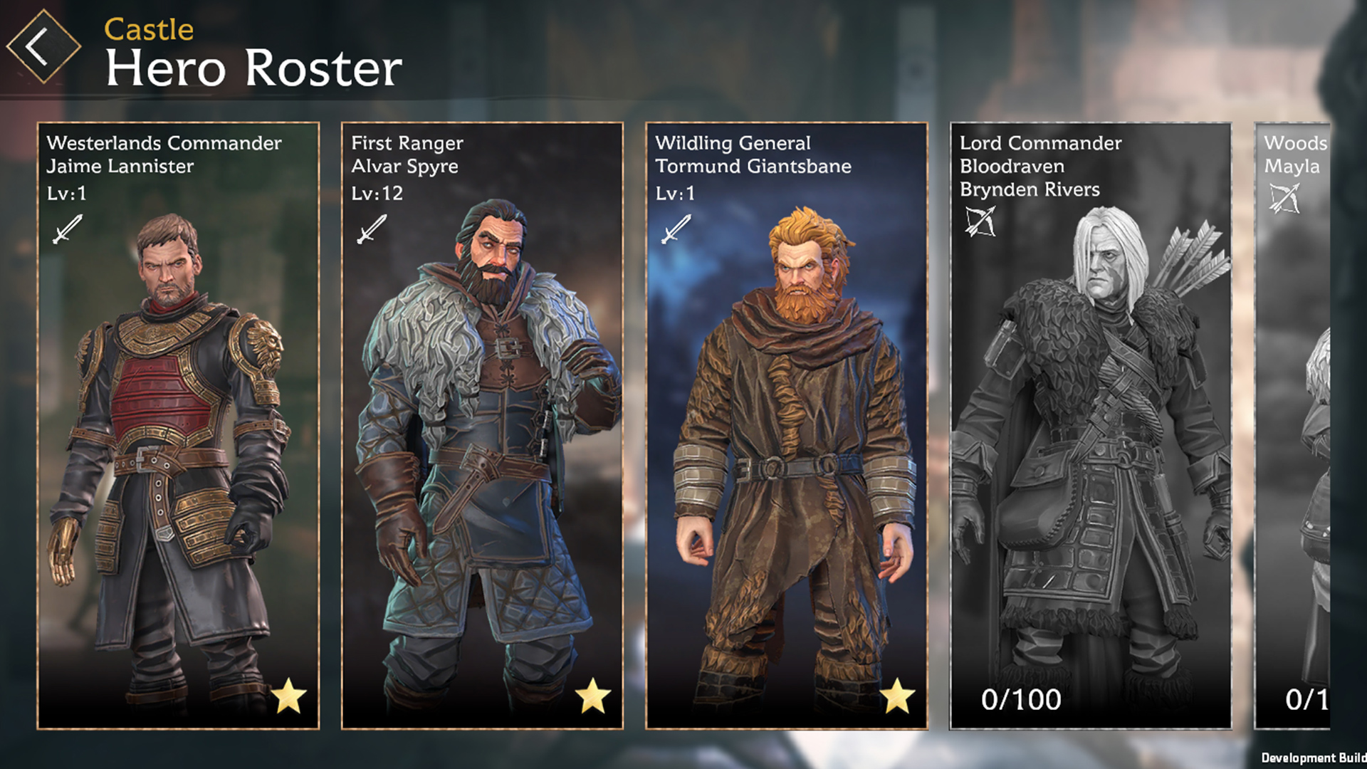 game of thrones beyond the wall heroes